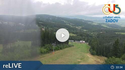 Webcam Zadov Skigebiet Zadov - Churanov Böhmer Wald