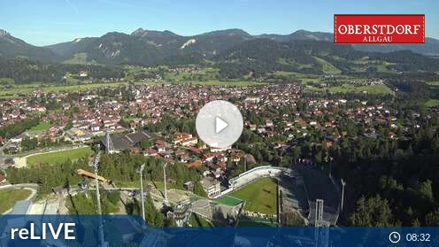 Webcam Skigebiet Oberstdorf - Söllereck Oberstdorf Schanze - Allgäu