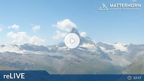 Zermatt / Matterhorn ski paradise - aktuální pohled z webkamery
