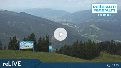Schladming - Hauser Kaibling Planai Hochwurzen Reiteralm - Bergstation 6er-Sesselbahn