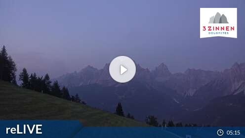 Webkamera 3 Zinnen Dolomites – Helm/Stiergarten/Rotwand/Kreuzbergpass