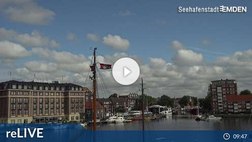 Webcam Brücke Eisenbahndock Emden