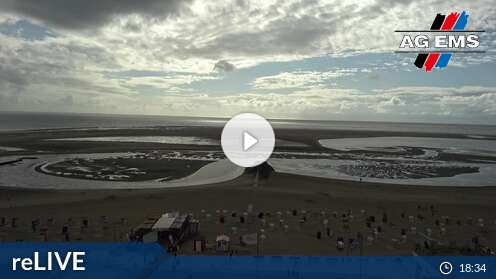 Webcam Obere Strandpromenade Borkum