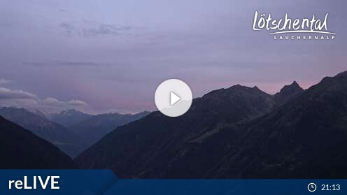 Webcam Bergstation Luftseilbahn Wiler-Lauchernalp