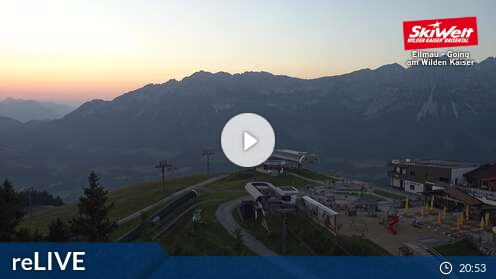 Webcam Ellmau - Bergstation Hartkaiserbahn - 1.530 m