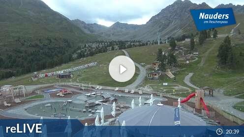 Webcam Nauders - Bergstation Bergkastelseilbahn