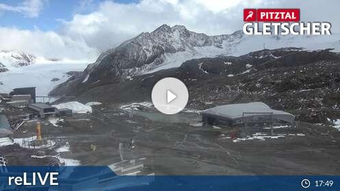 Pitztaler Gletscher - aktuální pohled z webkamery