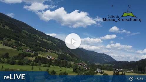 Webcam Golfplatz Murau - FlyingCam